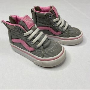 Toddler Size 4 Pink Gray Girls Vans